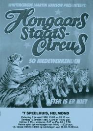 Hongaars Staats-Circus Circus Ticket - 1988