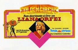 Liana Orfei - 4th Golden Circus Festival Circus Ticket - 1988