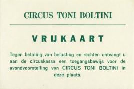 Circus Toni Boltini Circus Ticket - 0