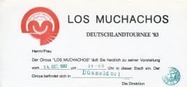 Circus Los Muchachos Circus Ticket - 1983