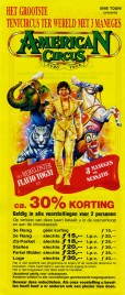 American Circus Circus Ticket - 1993