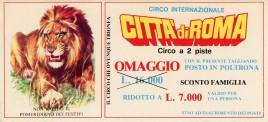 Circo Citta' di Roma Circus Ticket - 0