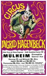 Circus Ingrid Hagenbeck Circus Ticket - 1981
