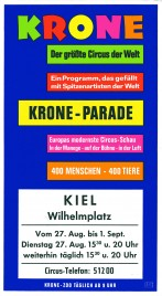 Circus Krone Circus Ticket - 1974
