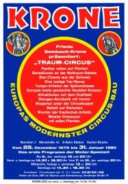 Circus Krone Circus Ticket - 1980