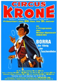 Circus Krone Circus Ticket - 1983