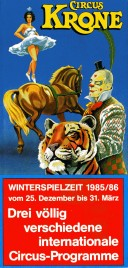 Circus Krone Circus Ticket - 1985