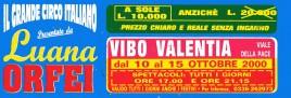 Circo Luana Orfei Circus Ticket - 2000