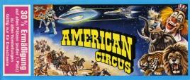 Circo Americano Circus Ticket - 1989
