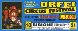 Orfei Circus Festival Circus Ticket - 0