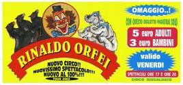 Circo Rinaldo Orfei Circus Ticket - 2003