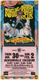 Ringling Bros. and Barnum & Bailey Circus Circus Ticket - 1976