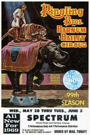 Ringling Bros. and Barnum & Bailey Circus Circus Ticket - 1969