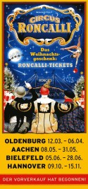 Circus Roncalli Circus Ticket - 2014