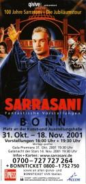 Circus Sarrasani Circus Ticket - 2001