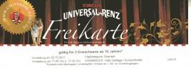Circus Universal Renz Circus Ticket - 2011