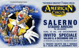 American Circus Circus Ticket - 2001