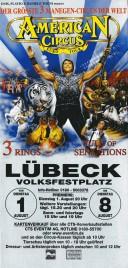 American Circus Circus Ticket - 2000