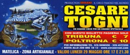 Circo Cesare Togni Circus Ticket - 0