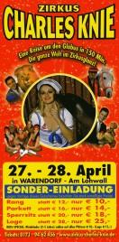 Zirkus Charles Knie Circus Ticket - 2010