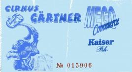 Cirkus Gärtner Circus Ticket - 2001