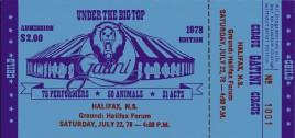 Circus Gatini Circus Ticket - 1978