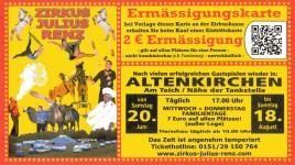 Zirkus Julius Renz Circus Ticket - 2009
