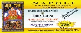 Circo Lidia Togni Circus Ticket - 1999