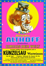 Circus Gebrüder Althoff Circus Ticket - 1976
