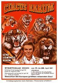 Circus Barum Circus Ticket - 1987