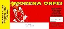 Circo Morena Orfei Circus Ticket - 2001