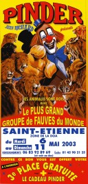 Cirque Pinder Circus Ticket - 2003