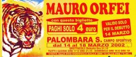 Circo Mauro Orfei Circus Ticket - 2002