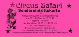 Circus Safari Circus Ticket - 1999