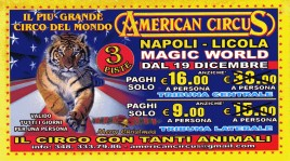 American Circus Circus Ticket - 2014