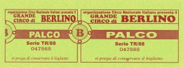 Circo di Berlino Circus Ticket - 1988