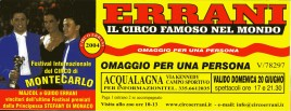 Circo Errani Circus Ticket - 2004