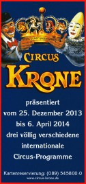 Circus Krone Circus Ticket - 2013