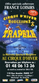 Bouglione - Trapeze Circus Ticket - 2001