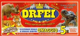 Circo Rinaldo Orfei Circus Ticket - 0