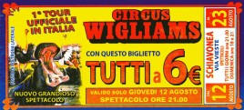 Circus Wigliams Circus Ticket - 2010