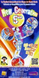 5eme New Generation Circus Ticket - 2016