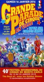 Grande Parade de Cirque en Ville - 40e Festival du Cirque Circus Ticket - 2016