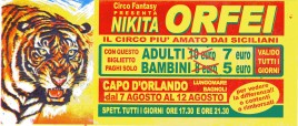Circo Nikita Orfei Circus Ticket - 2002