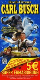Circus Carl Busch Circus Ticket - 2013