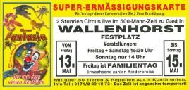 Circus Fantasia Circus Ticket - 2011