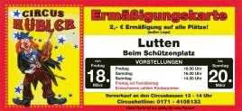 Circus Hubler Circus Ticket - 2011