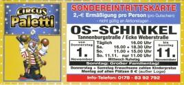Circus Paletti Circus Ticket - 2012
