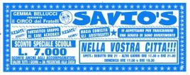 Circo Savio's Circus Ticket - 0