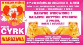 Cyrk Warszawa Circus Ticket - 0